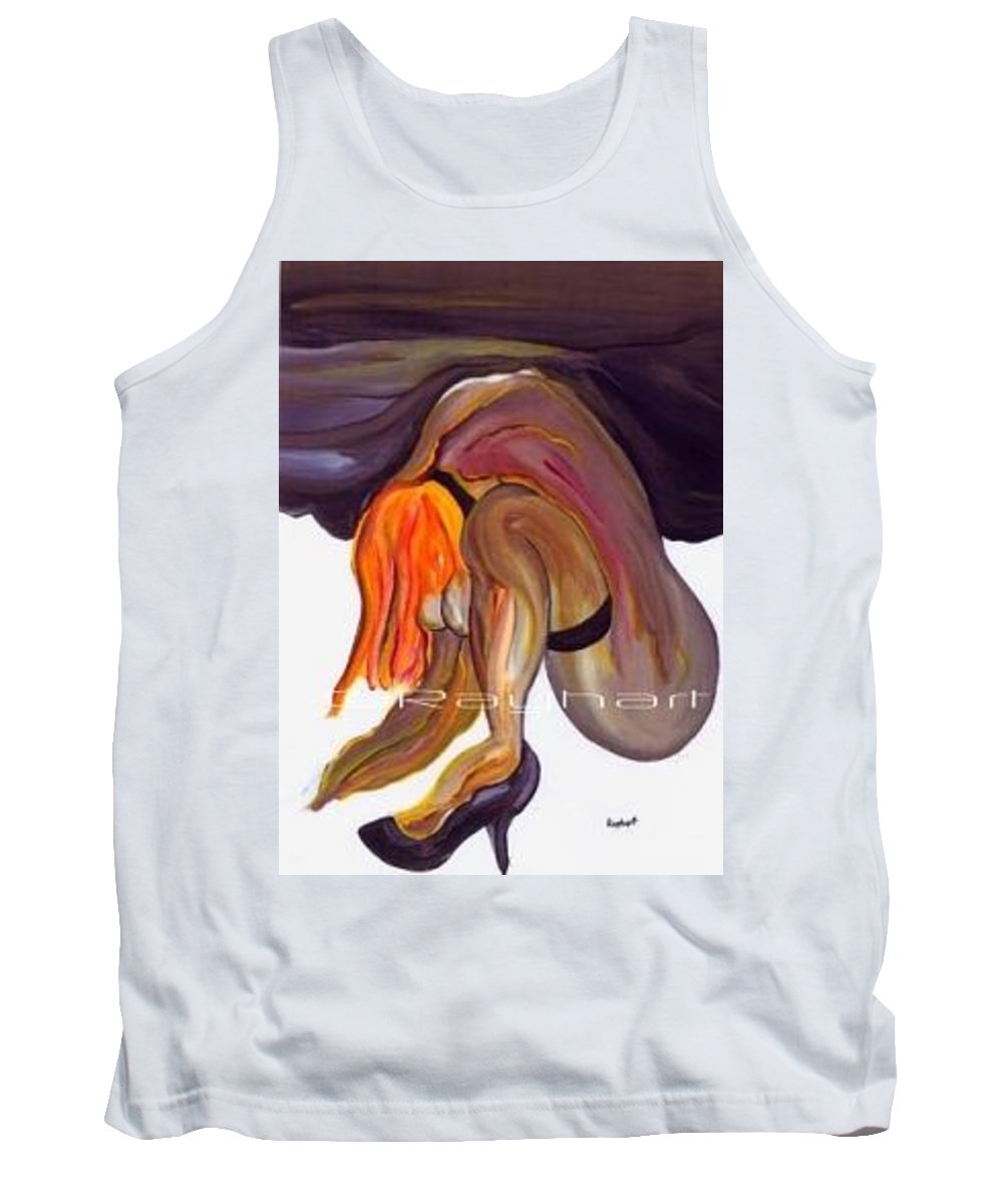 Female Abstract Tank Top featuring the painting Erotica - SOLD by Artist Rayhart