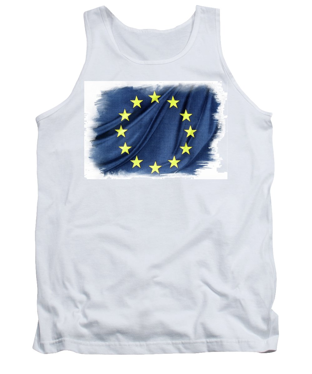 Flag Tank Top featuring the photograph Eu Flag by Les Cunliffe