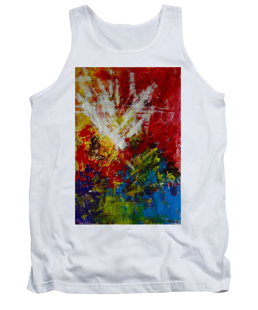 Art Tank Top featuring the painting Explosion by Katerina Pejsova