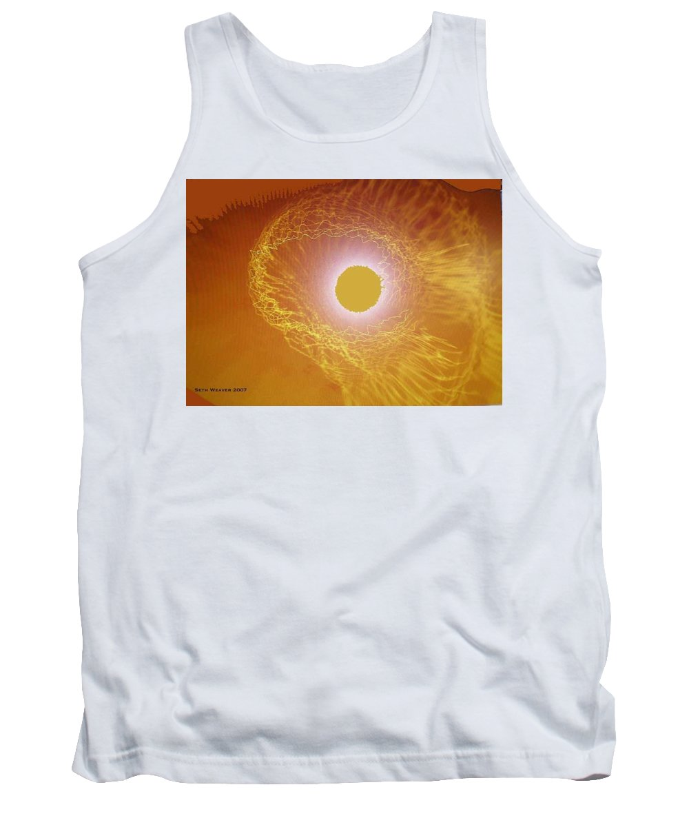 The Powerful Gaze Of The Almighty. Destroying Evil With His Almighty Sight. Tank Top featuring the digital art Eye Of God by Seth Weaver