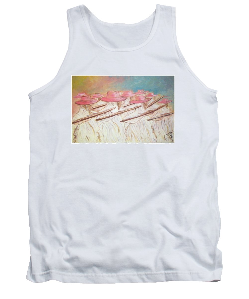 Abstract Tank Top featuring the painting Eyo Festival by Olaoluwa Smith
