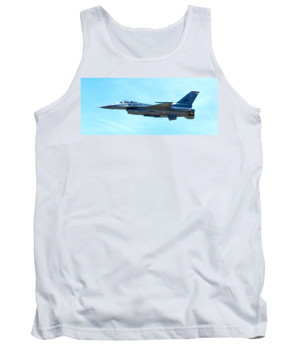 F16 Tank Top featuring the photograph F16 by Greg Fortier