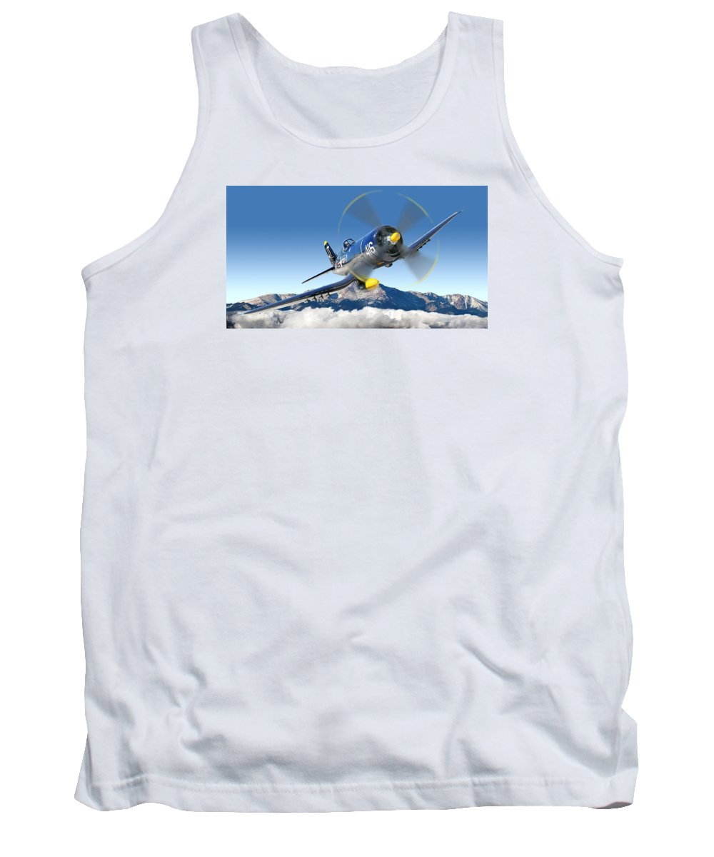 F4-u Corsair Tank Top featuring the photograph F4-u Corsair by Larry McManus