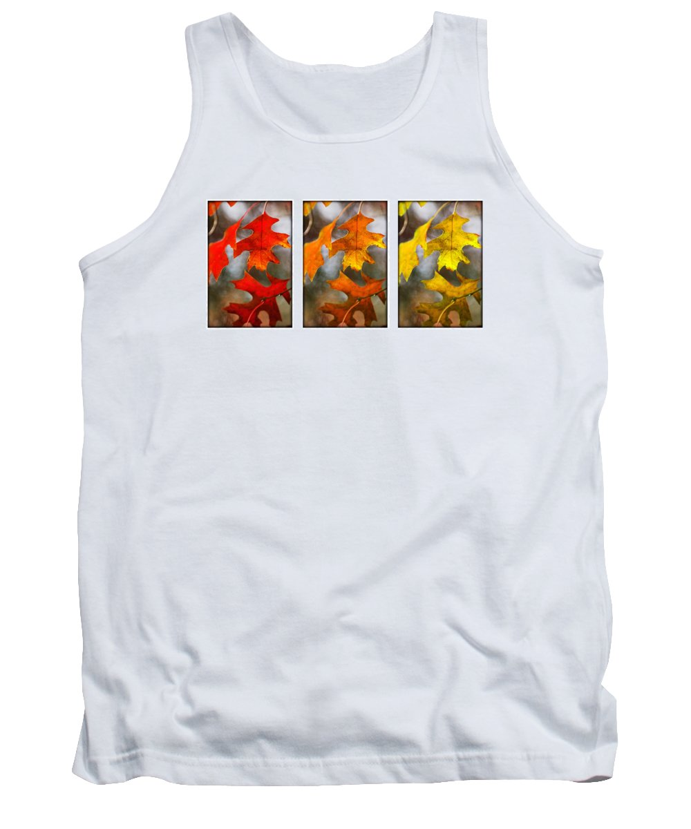 Leaves Tank Top featuring the photograph Fall Leaves by Jill Reger