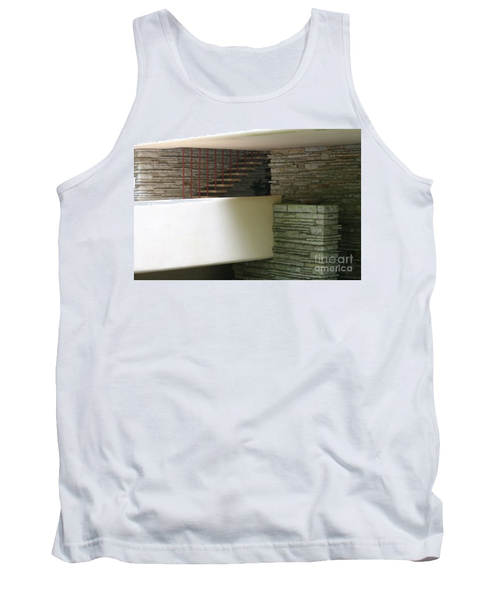 Falling Water Tank Top featuring the photograph Fallingwater Flw II by Chuck Kuhn