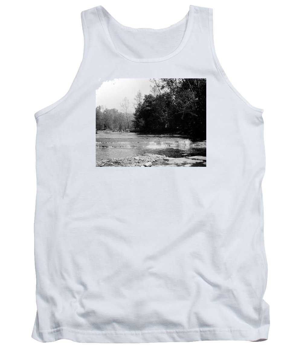 Falls Tank Top featuring the photograph Falls In Creek Downstream From Glen by Frank Fawcett