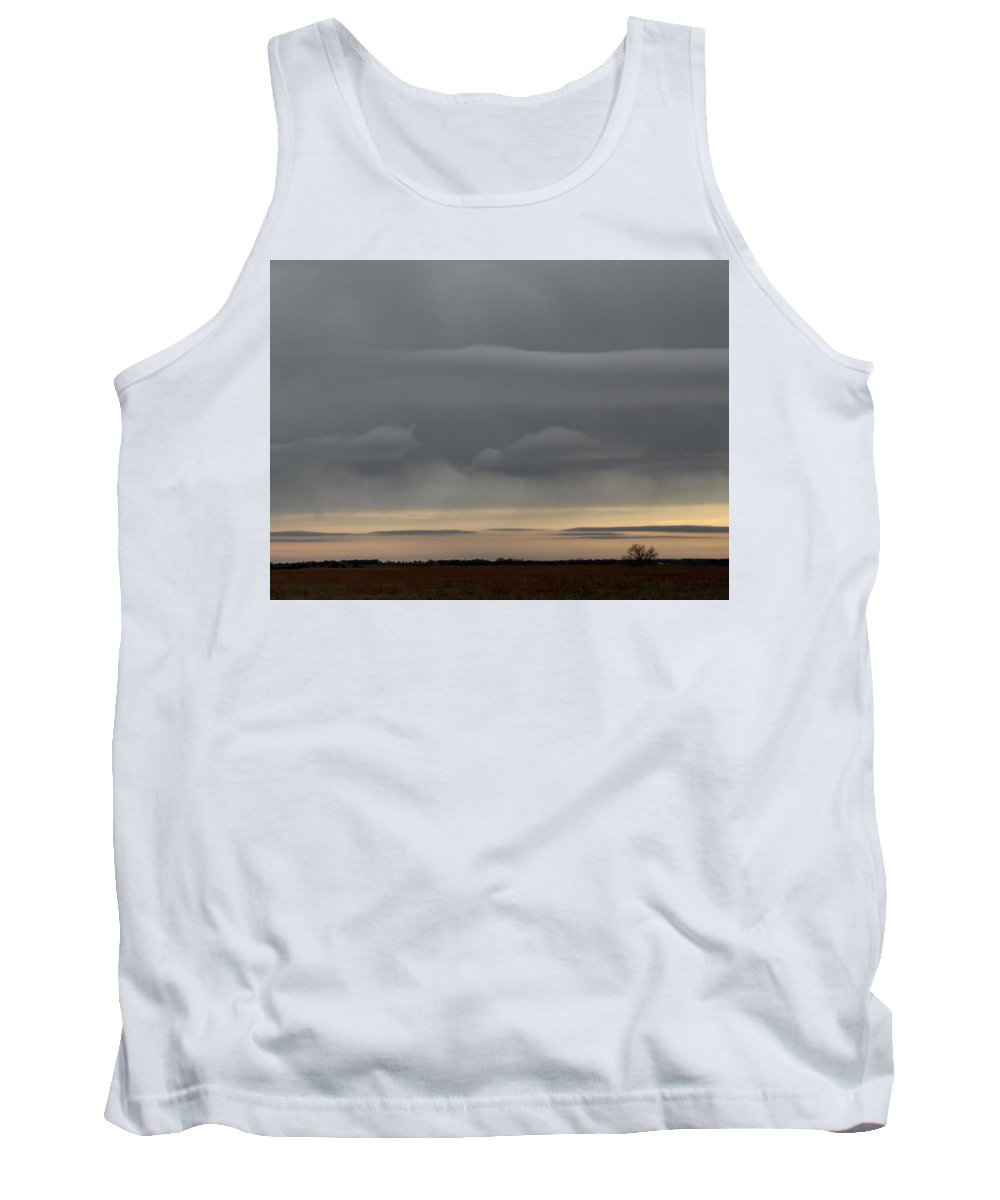 Grey Tank Top featuring the photograph Fantasy Clouds by Weathered Wood