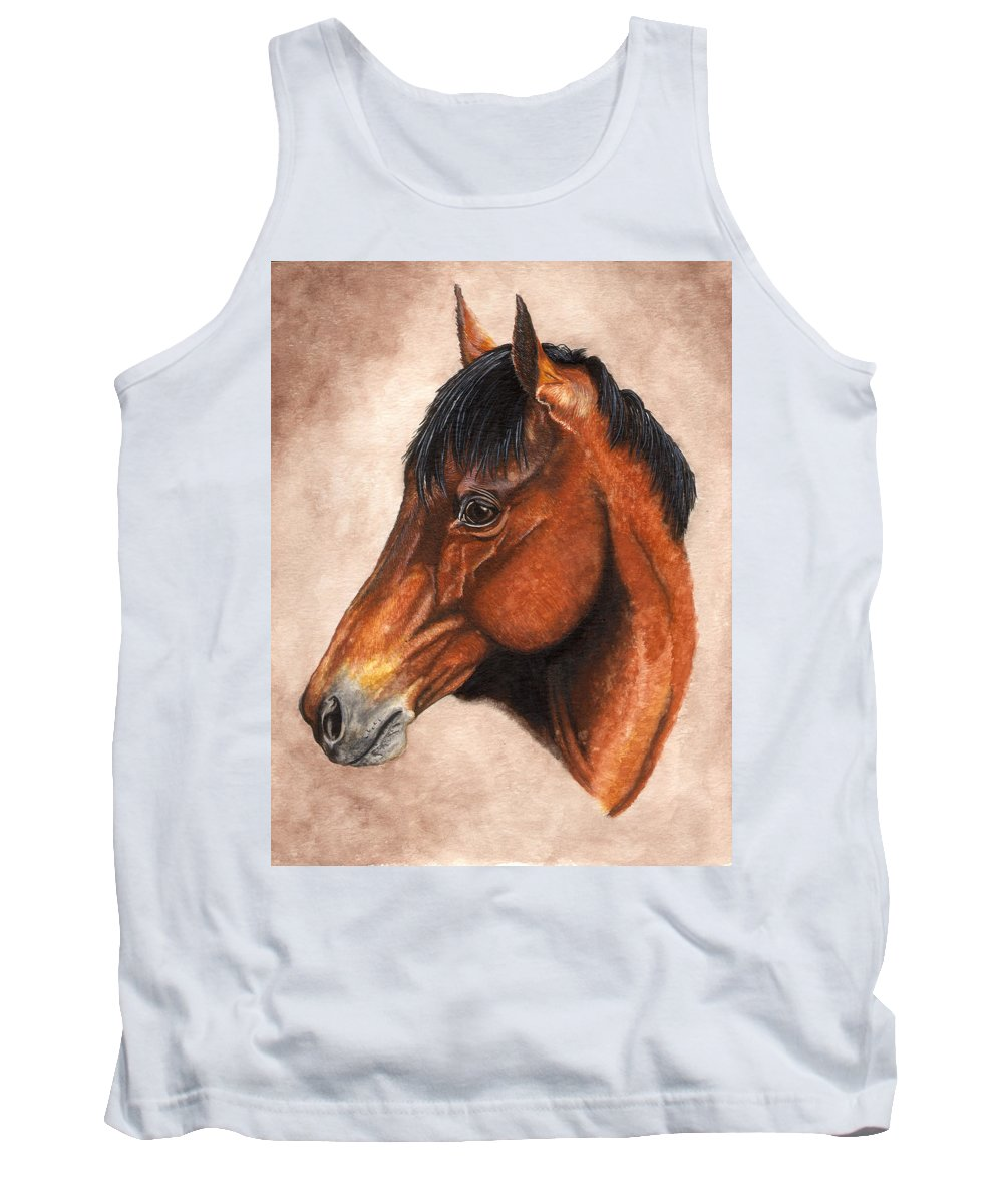 Horse Tank Top featuring the painting Farley by Kristen Wesch