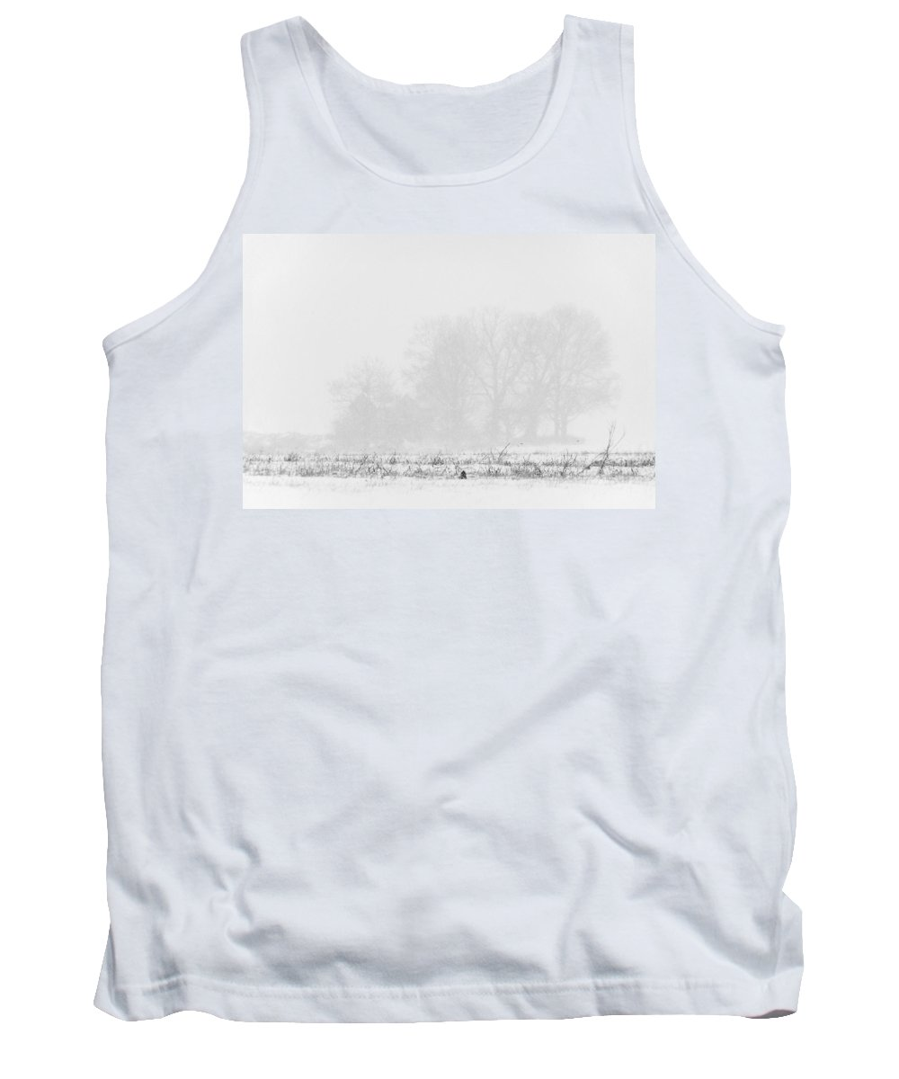 Farm Tank Top featuring the photograph Farmhouse Blizzard by Francesa Miller