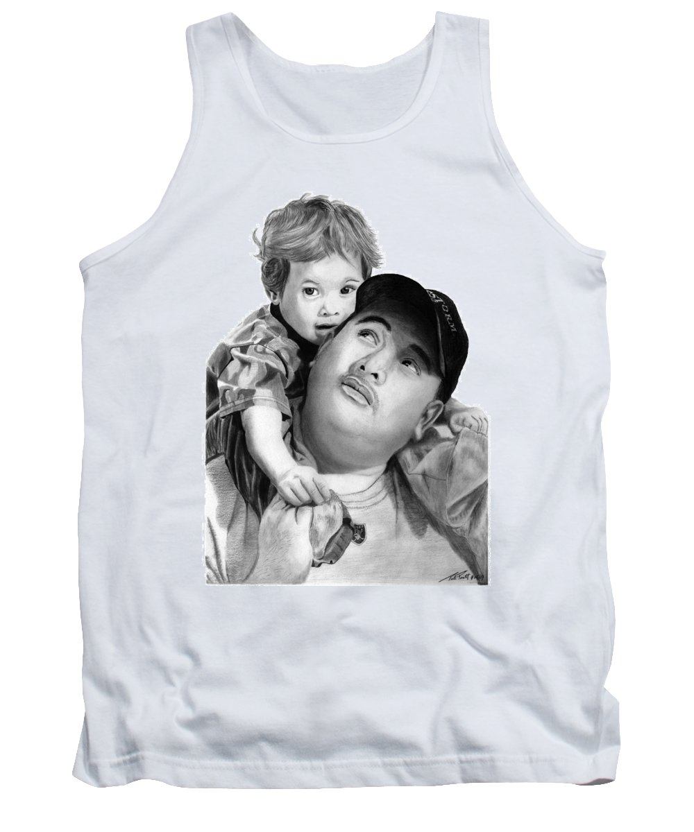 Father And Son Tank Top featuring the drawing Father And Son by Peter Piatt
