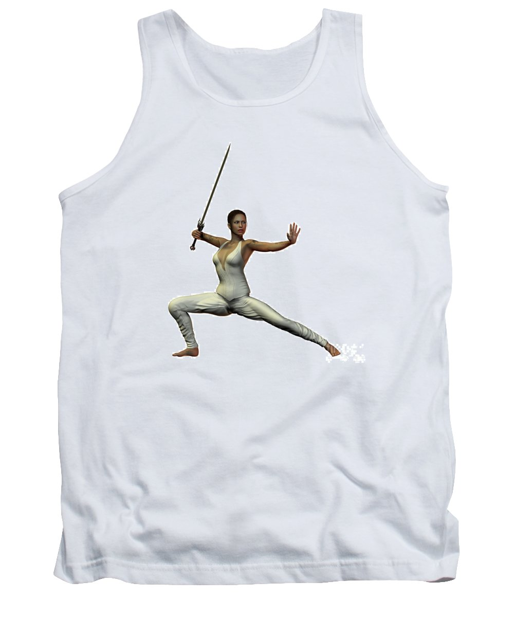 Warrior Tank Top featuring the painting Female Warroir by Corey Ford