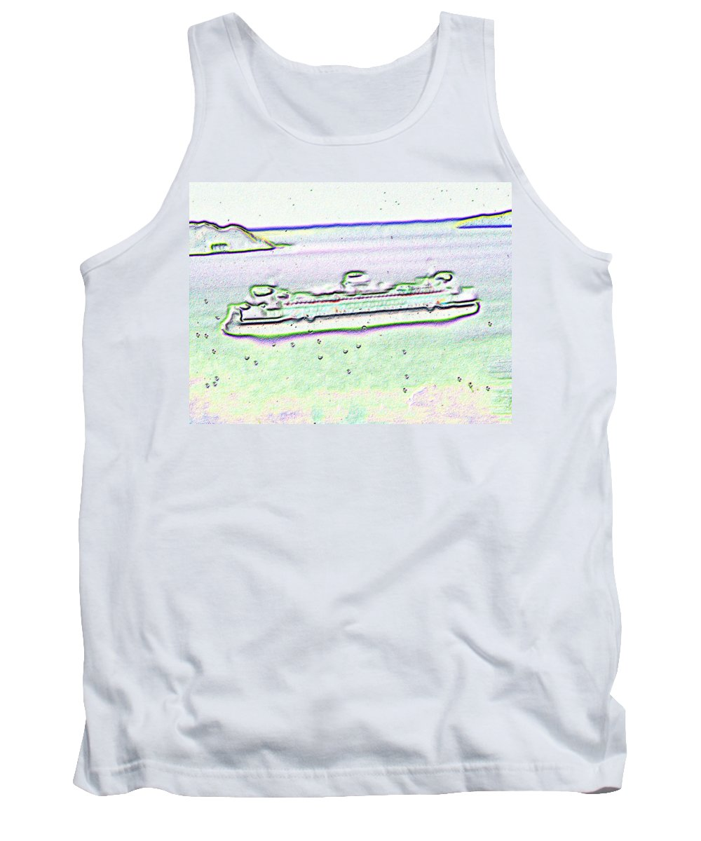 Seattle Tank Top featuring the photograph Ferry In The Rain by Tim Allen