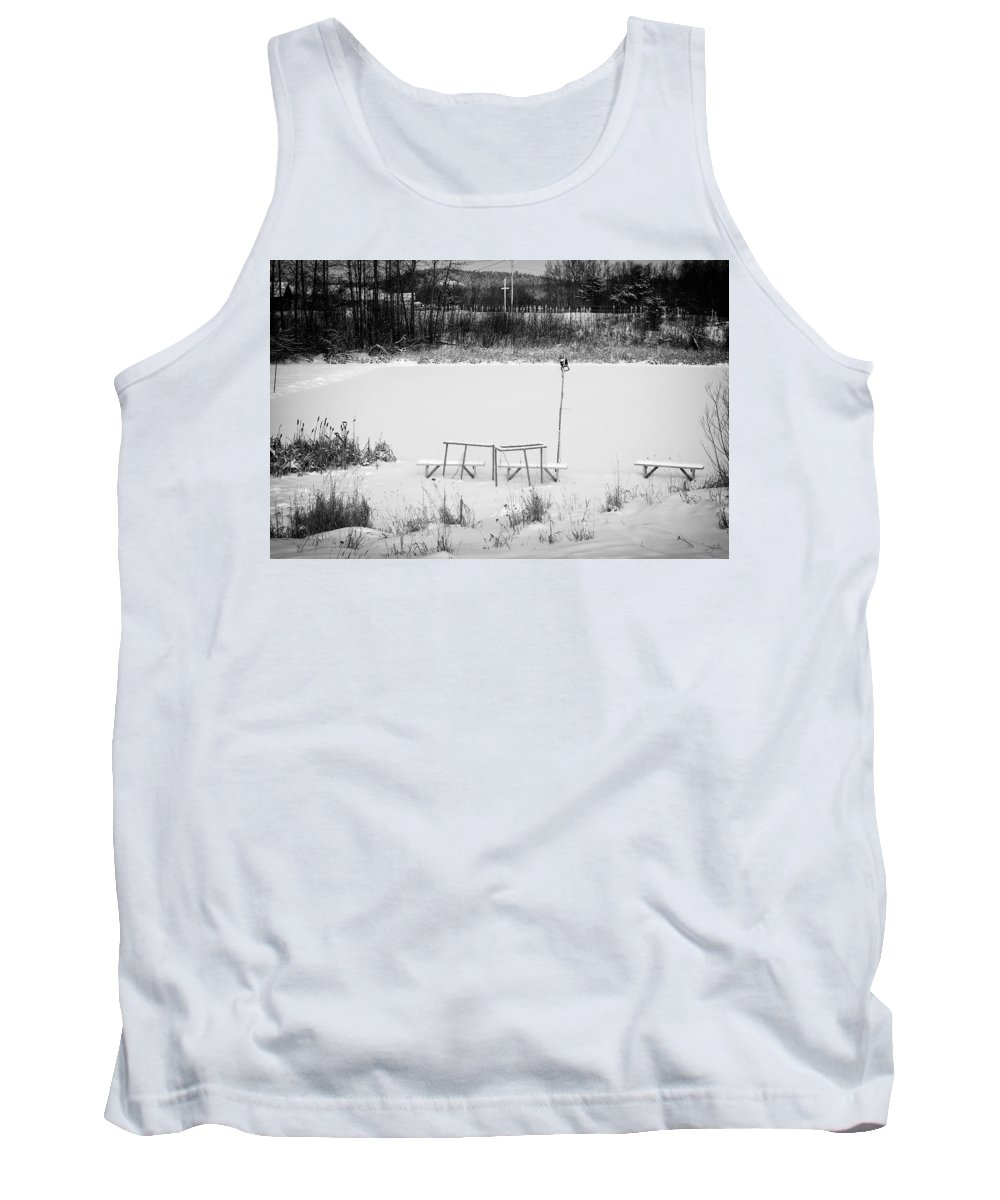 Hockey Tank Top featuring the photograph Field Of Dreams by Doug Gibbons