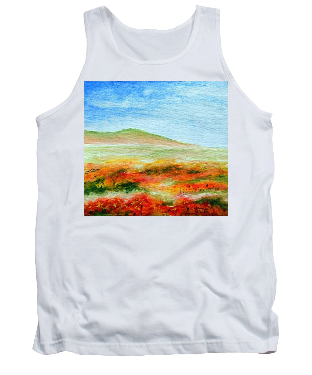 Poppy Tank Top featuring the painting Field Of Poppies by Jamie Frier