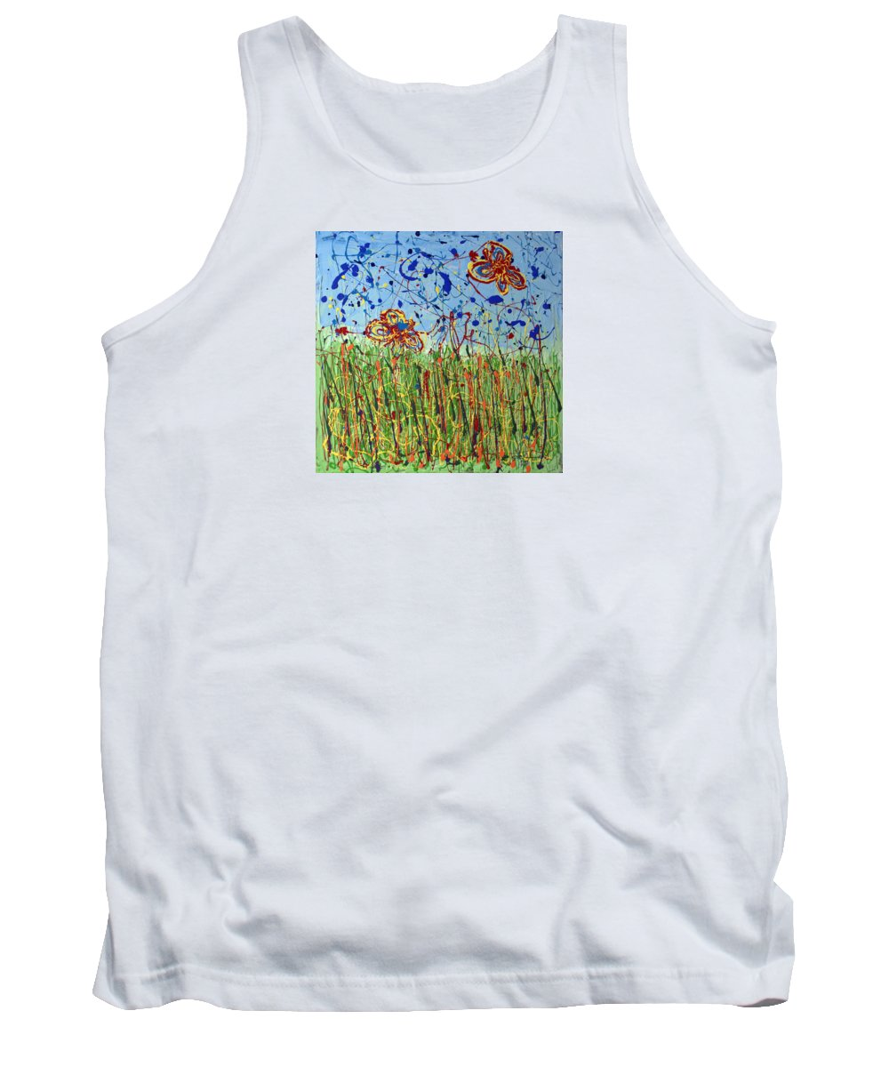 Painting Tank Top featuring the painting Fields Of Tall Grass by J R Seymour
