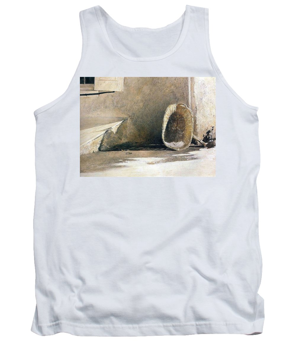 Sand Tank Top featuring the digital art File7297 Andrew Wyeth by Eloisa Mannion
