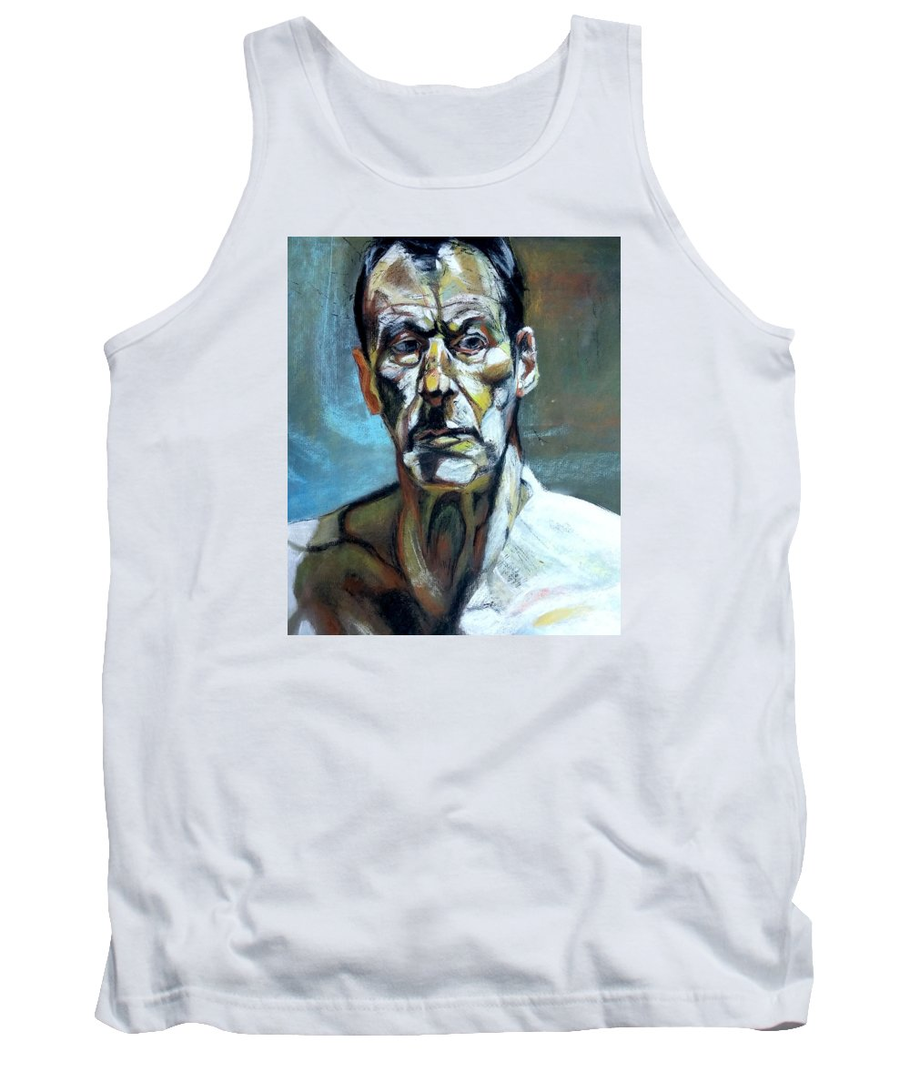 Impression Tank Top featuring the drawing First Impressions by Nils Bifano