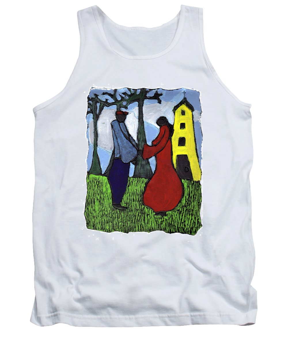 Love Tank Top featuring the painting First Love by Wayne Potrafka