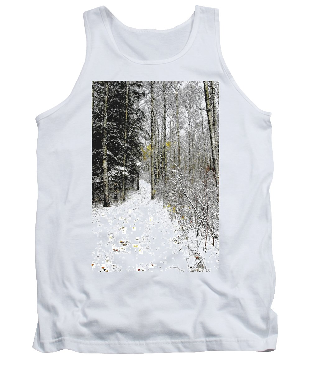 Winter Tank Top featuring the photograph First Snowfall by Nelson Strong