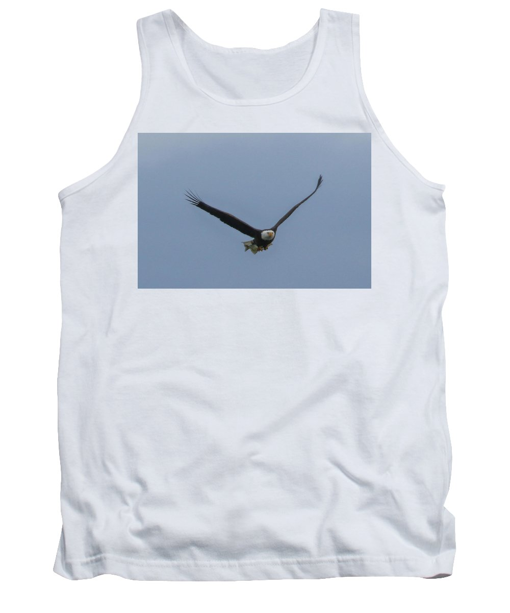 Eagle Flying Tank Top featuring the photograph Fish Delivery by Debbie Storie