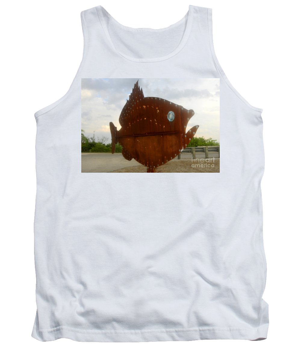 Fish Tank Top featuring the photograph Fish Of Steel by David Lee Thompson
