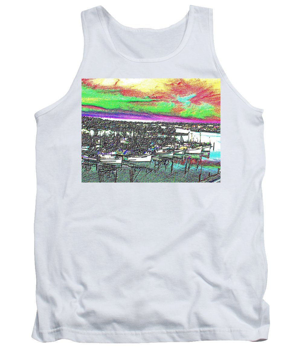 Seattle Tank Top featuring the photograph Fishermans Terminal 2 by Tim Allen