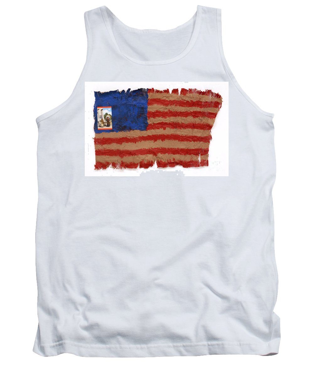 Flag Tank Top featuring the mixed media Flag 2 by Jaime Becker