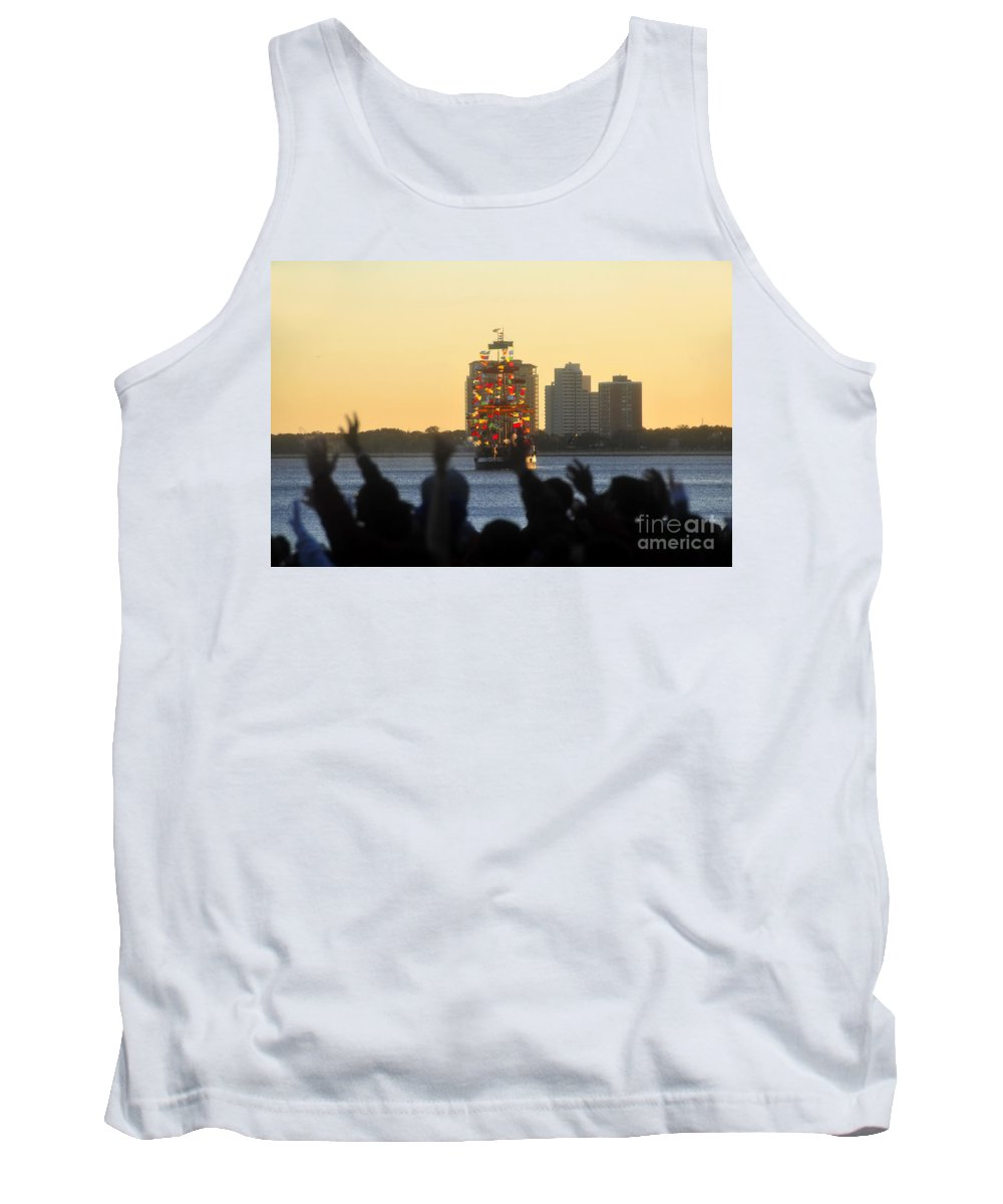 Gasparilla Pirate Festival Tampa Bay Florida Tank Top featuring the photograph Flag Ship by David Lee Thompson