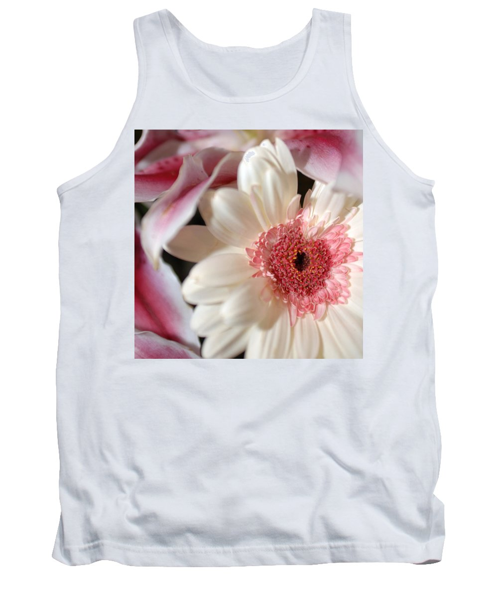 Flower Tank Top featuring the photograph Flower Pink-white by Jill Reger
