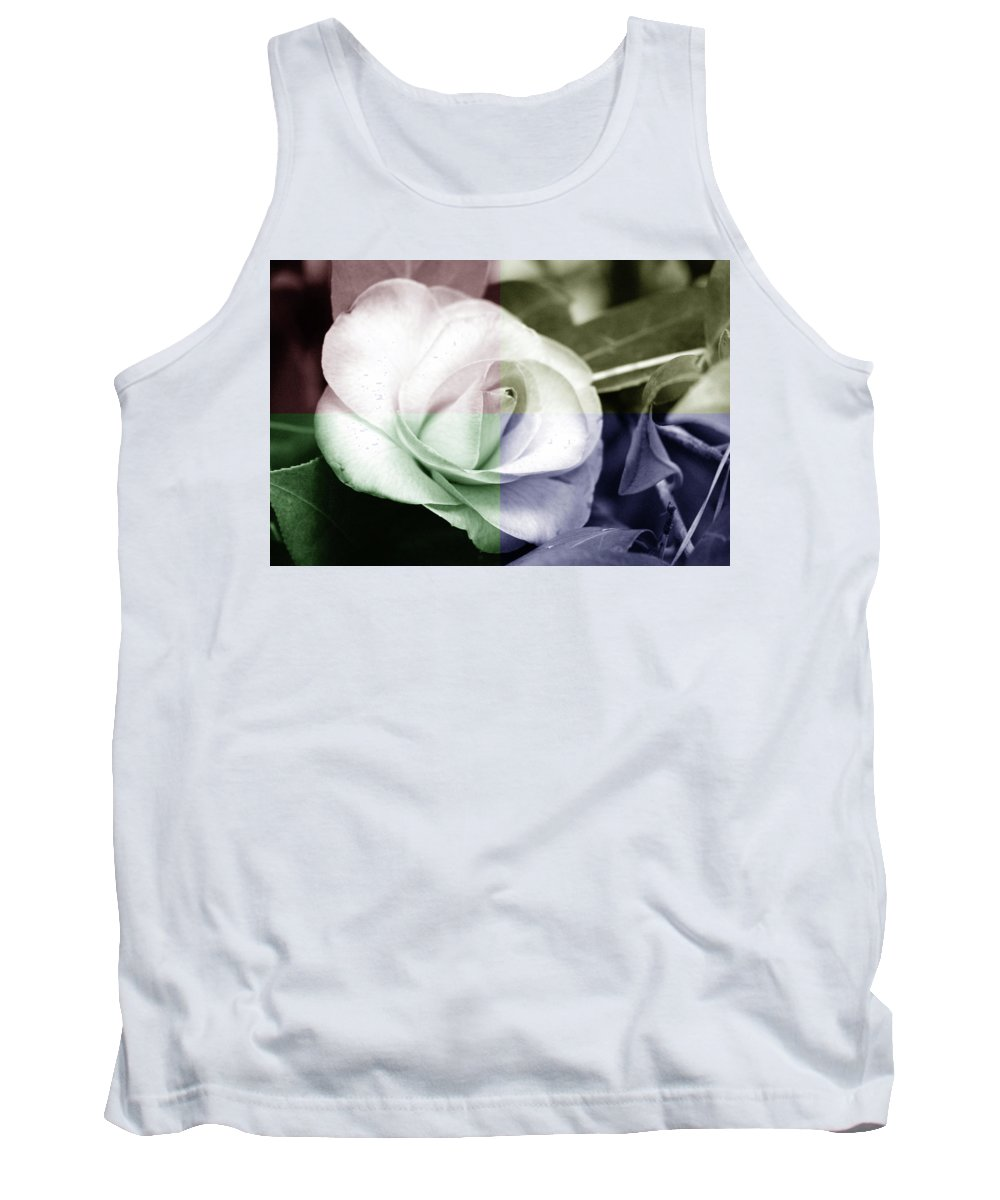 Flowers Blooms Colors Garden Plants Tank Top featuring the photograph Flower Quadrant Colors by Lisa Stanley