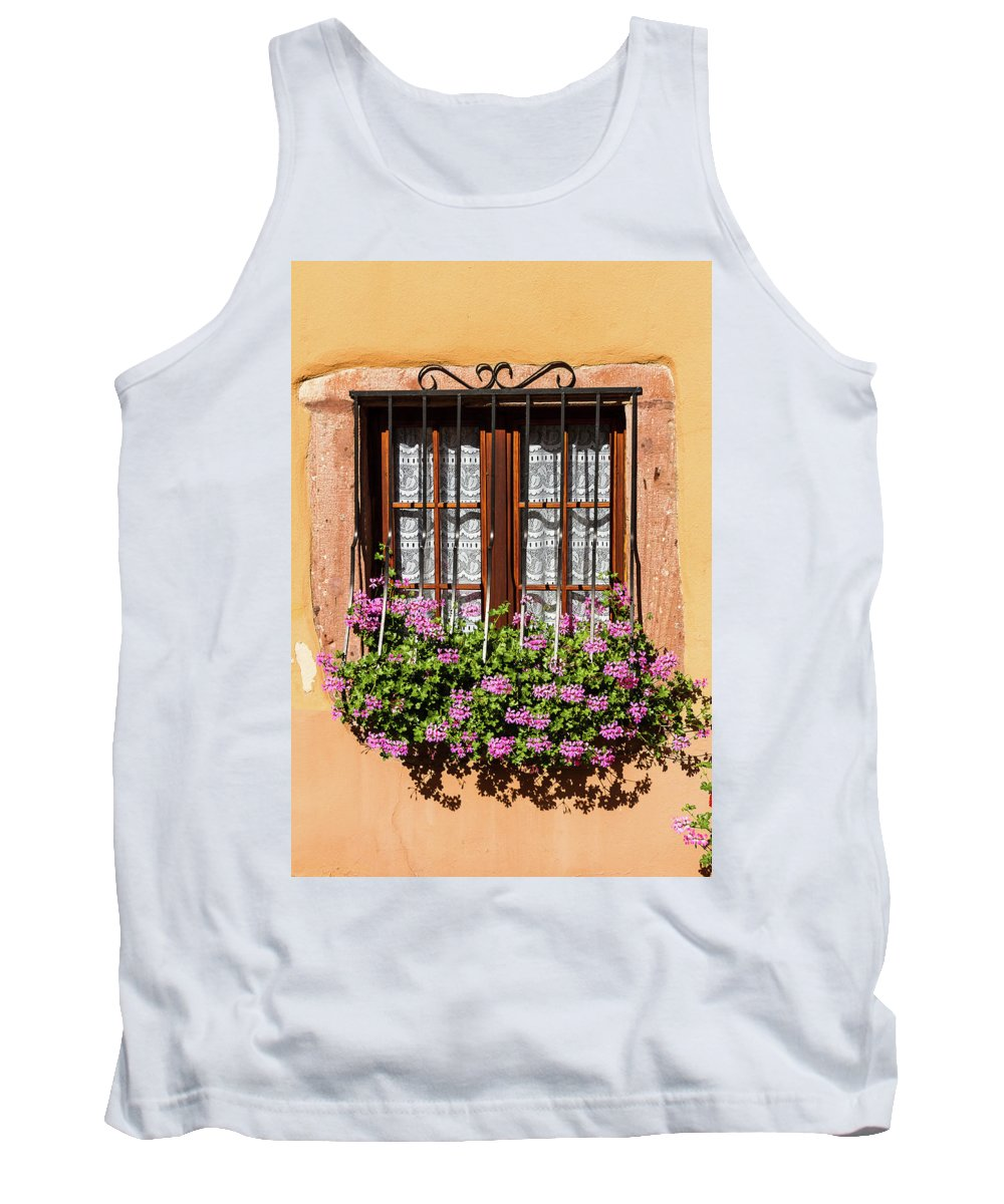 Window Tank Top featuring the photograph Flowered Window # II by Paul MAURICE