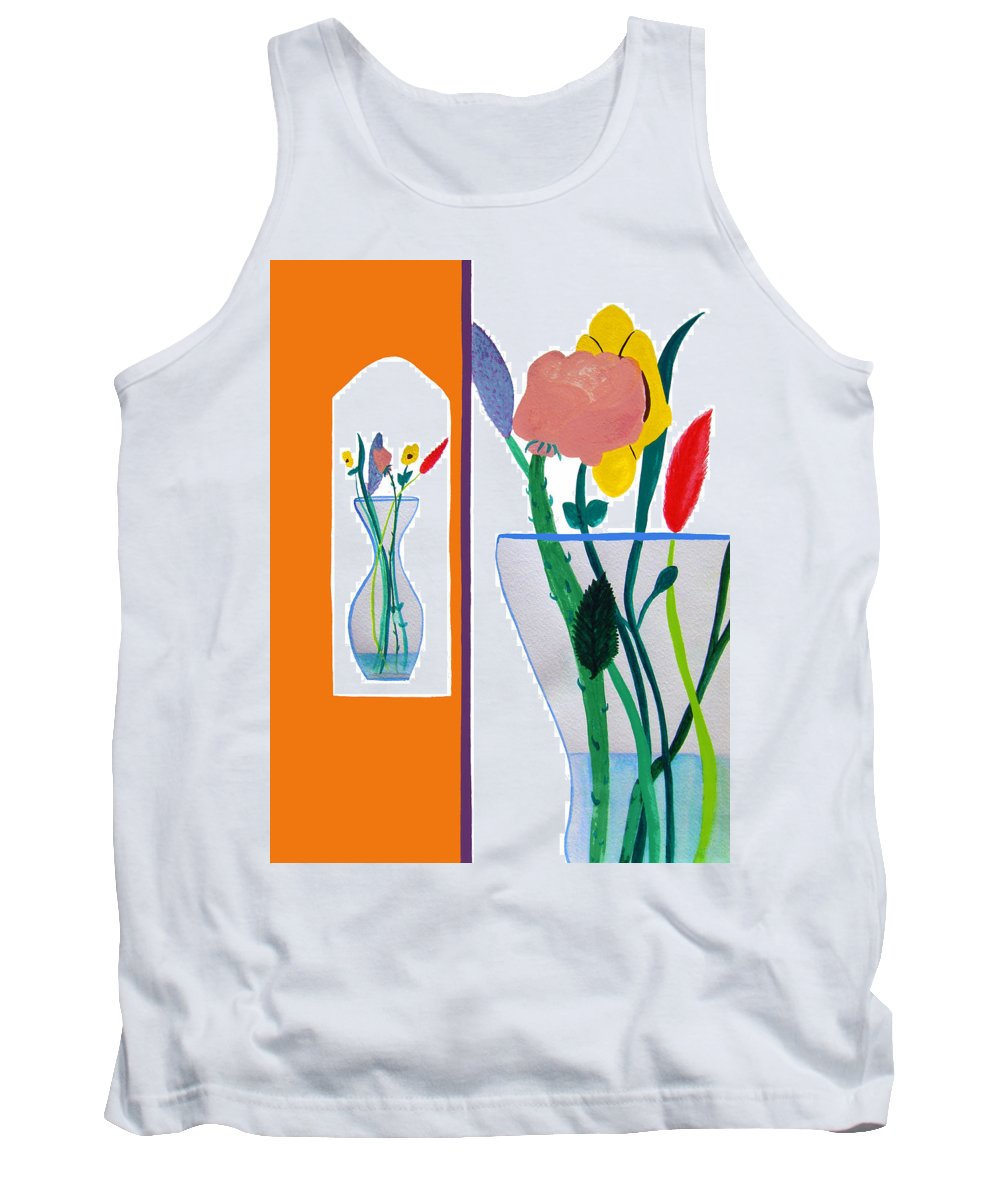 Art Tank Top featuring the painting Flowers Small And Big by Lee Serenethos
