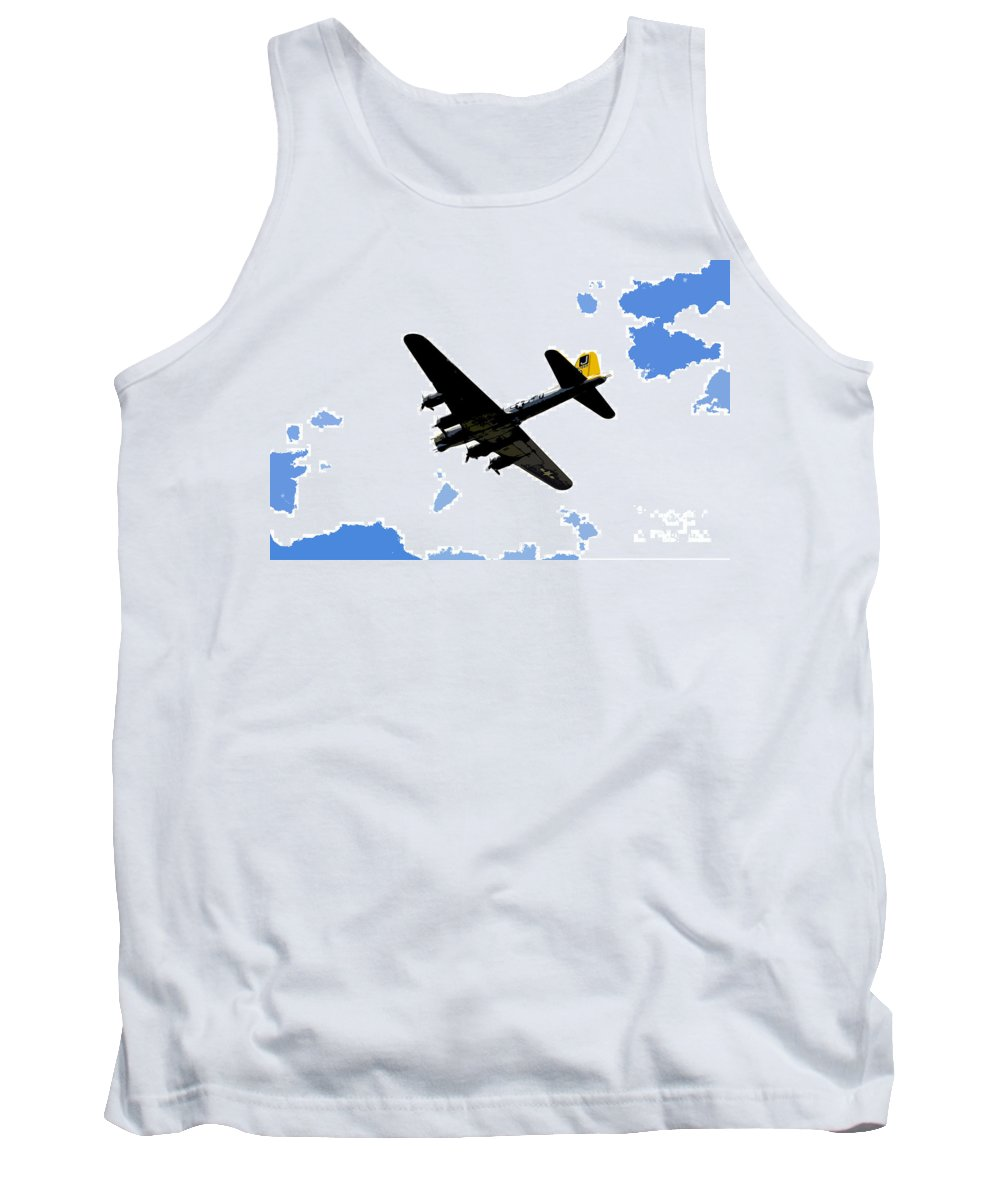 B 17 Tank Top featuring the photograph Flying For Home by David Lee Thompson