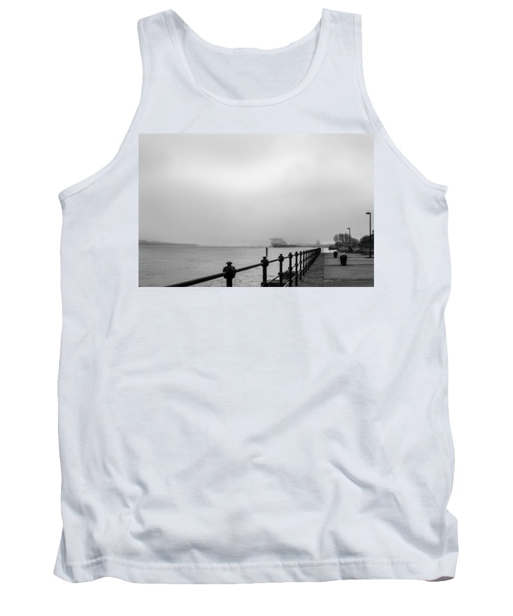 Port Tank Top featuring the photograph Foggy Mersey by Spikey Mouse Photography