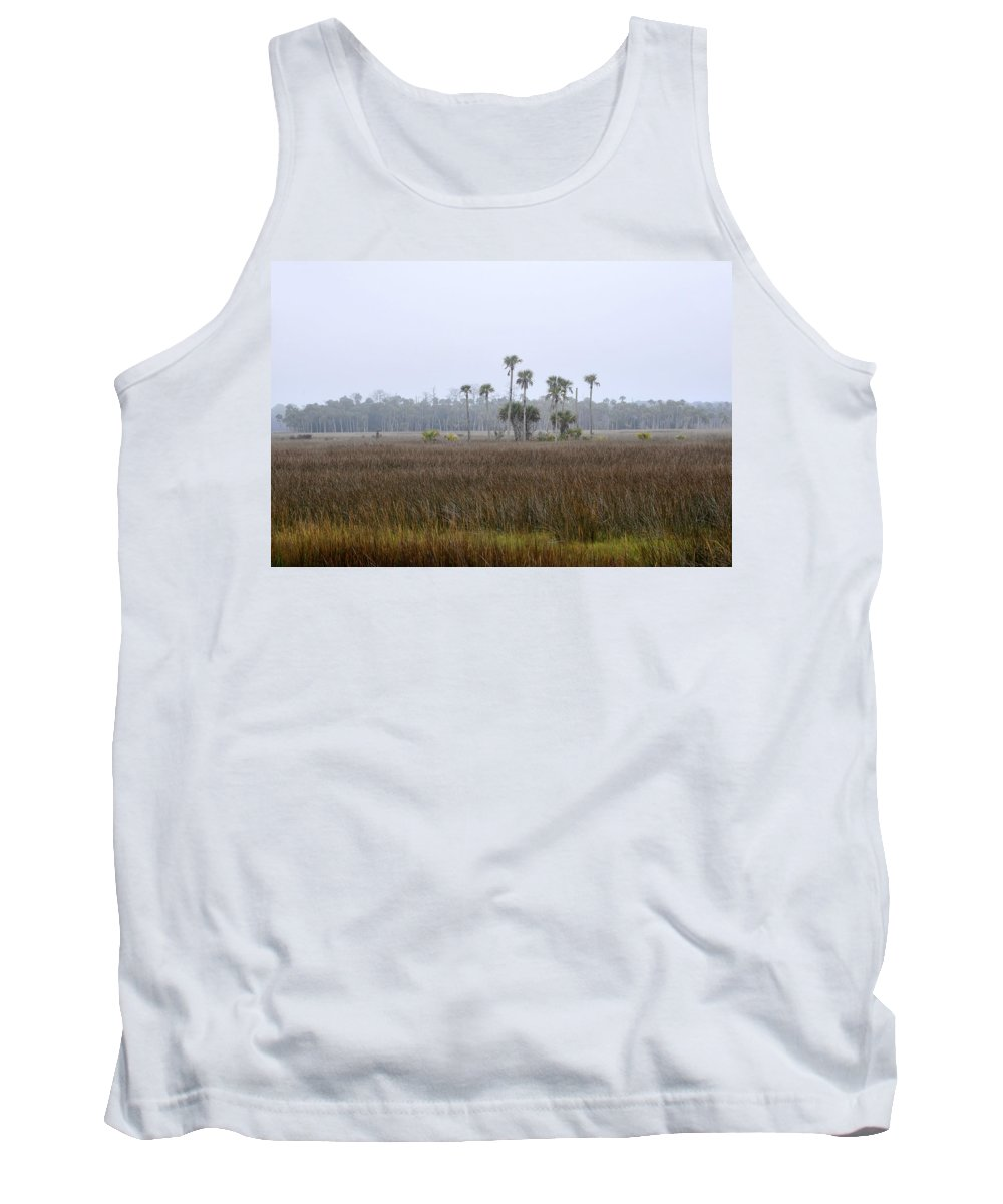 Florida Tank Top featuring the photograph Foggy Morning by David Lee Thompson