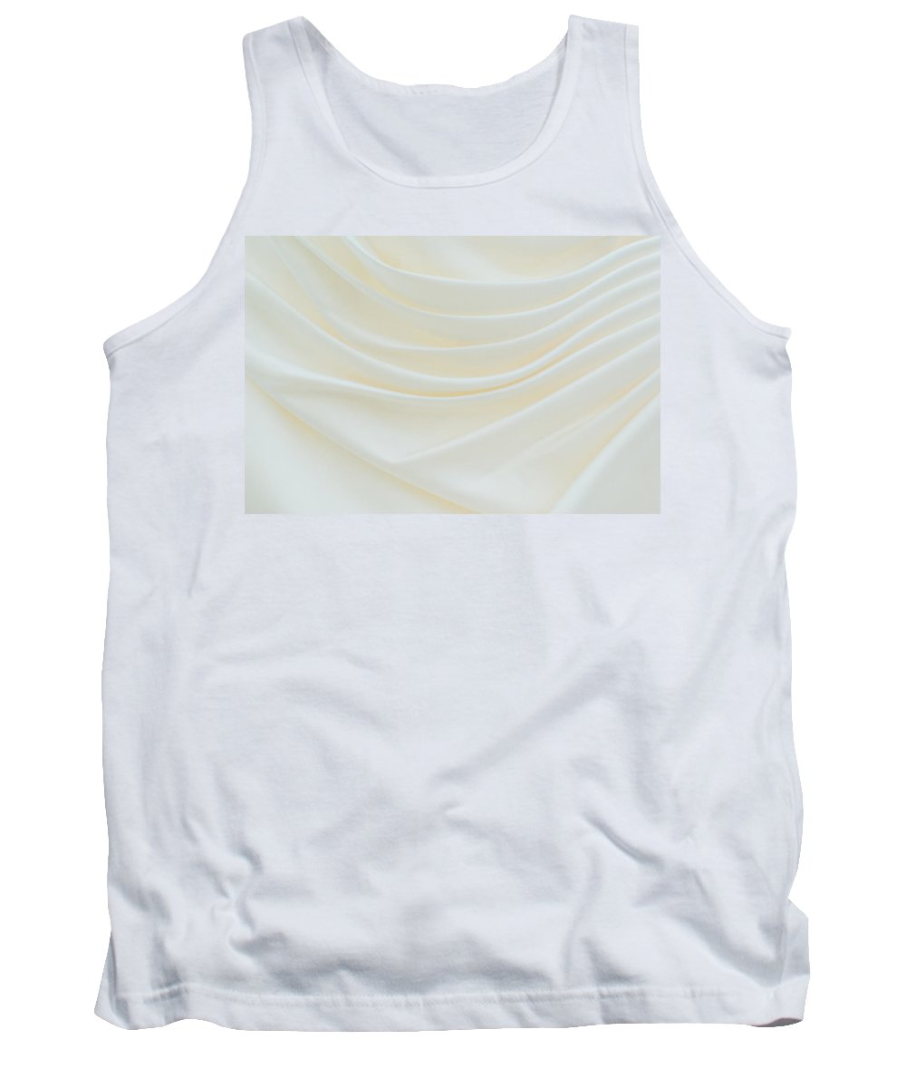 Dress Tank Top featuring the photograph Folded Fabric Waves by Meirion Matthias