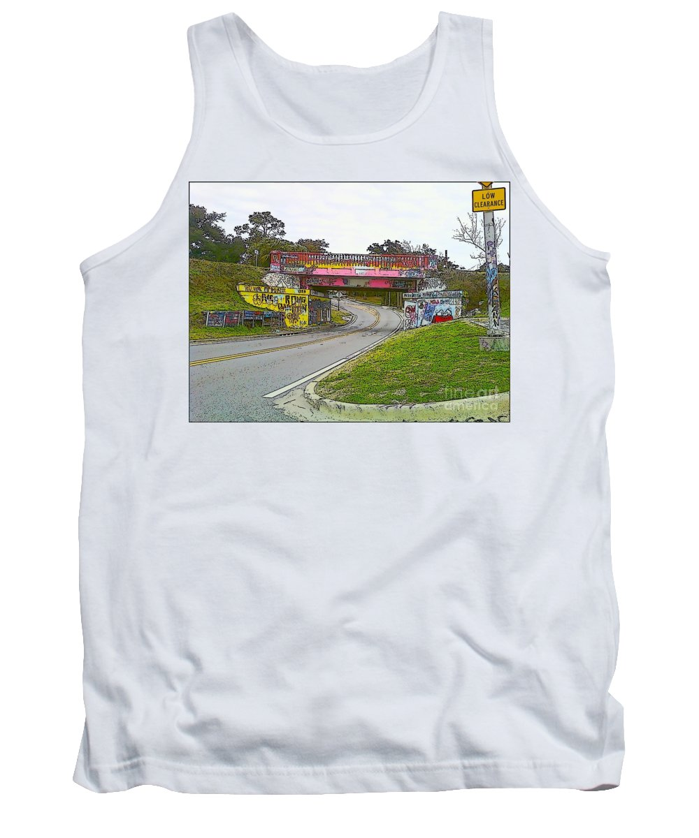 Art Tank Top featuring the photograph Follow The Art Road by Michelle Powell