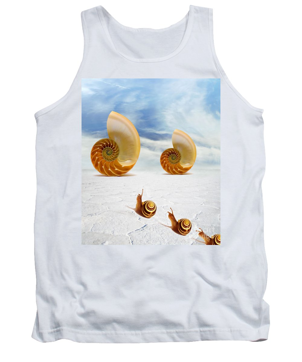 Photodream Art Tank Top featuring the digital art Follow Your Dreams by Jacky Gerritsen