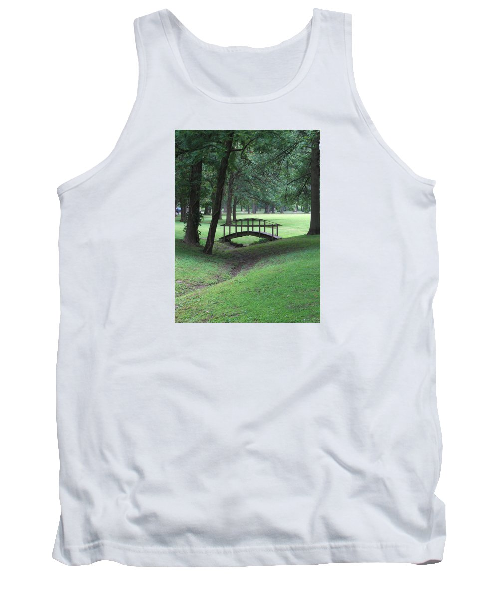 Bridge Tank Top featuring the photograph Foot Bridge In The Park by J R Seymour