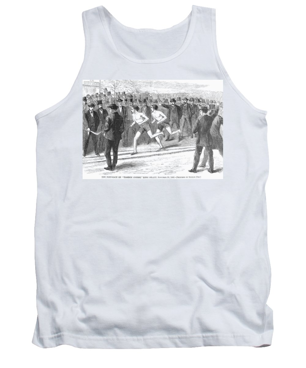 1868 Tank Top featuring the photograph Foot Race, 1868 by Granger