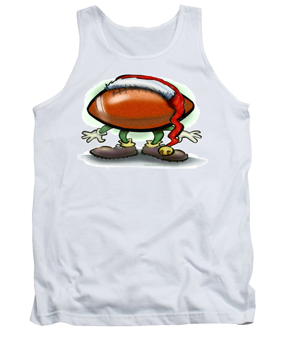 Football Tank Top featuring the greeting card Football Christmas by Kevin Middleton