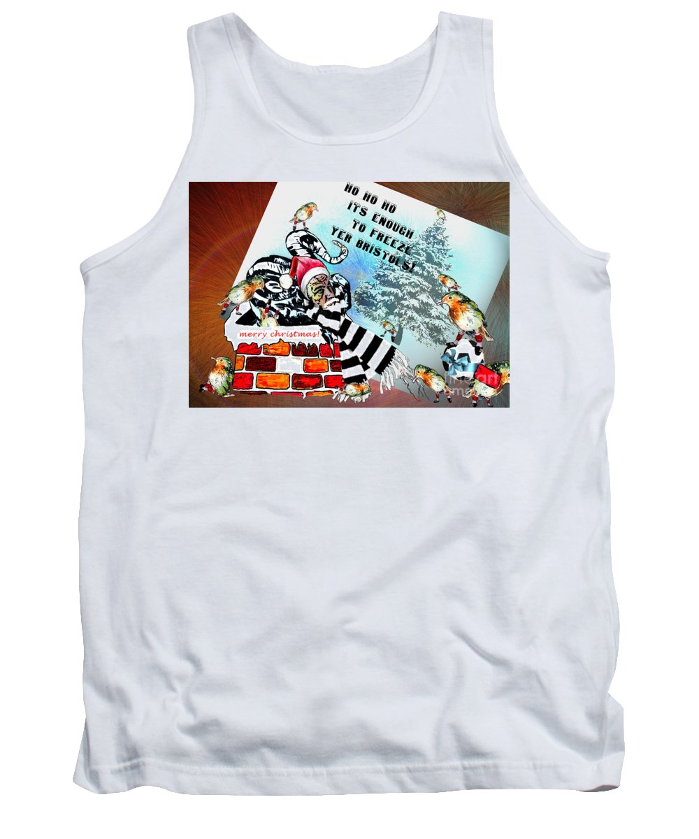 Football Calendar 2009 Derby County Football Club Bristol Artwork Miki Tank Top featuring the painting Football Derby Rams Against Bristol Robins by Miki De Goodaboom