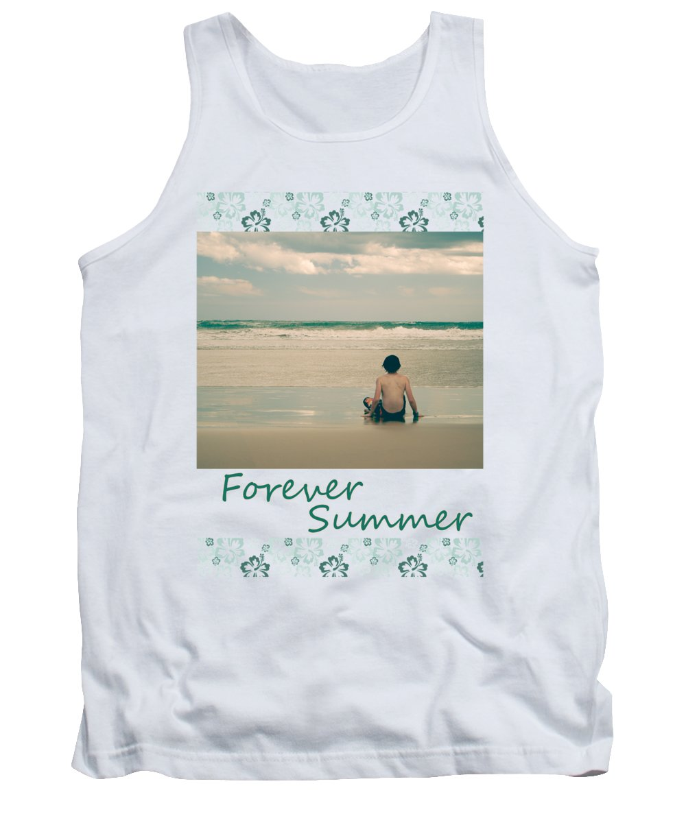 Surf Tank Top featuring the photograph Forever Summer 7 by Linda Lees