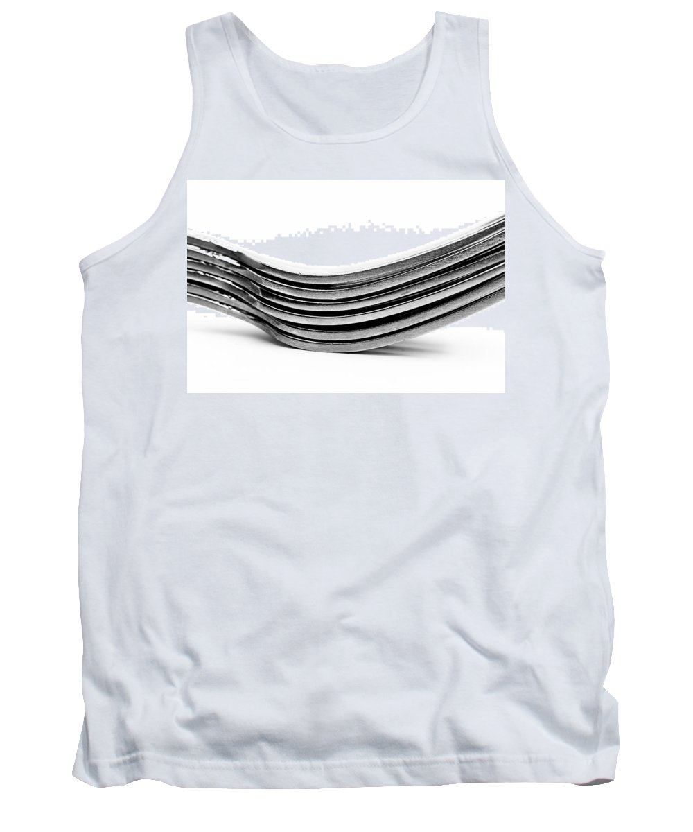 Flatware Tank Top featuring the photograph Forks by Onyonet Photo Studios