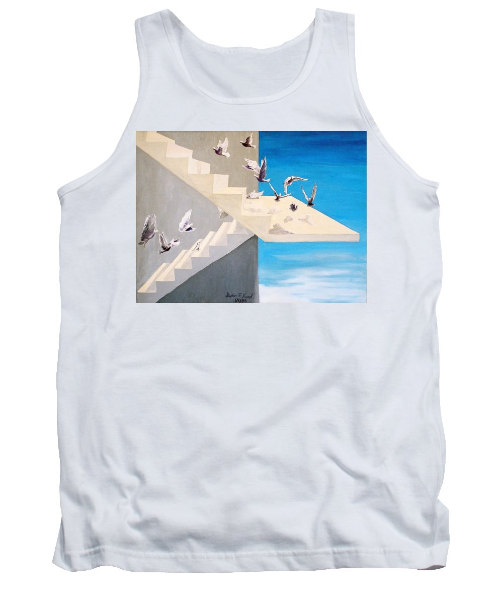 Birds Tank Top featuring the painting Form Without Function by Steve Karol