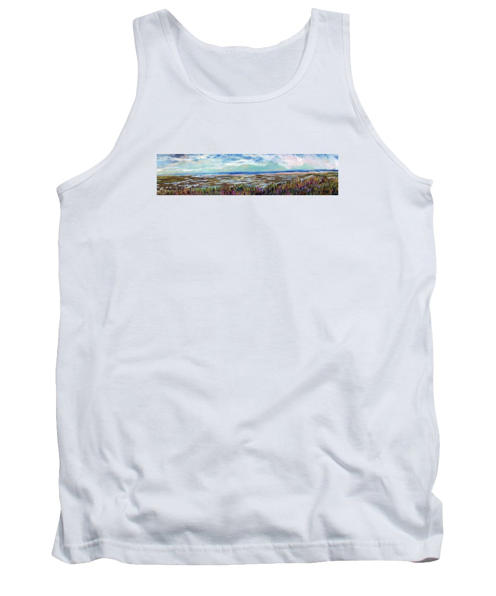 Cape Cod Tank Top featuring the painting Fort Hill Panorama by Michael Helfen