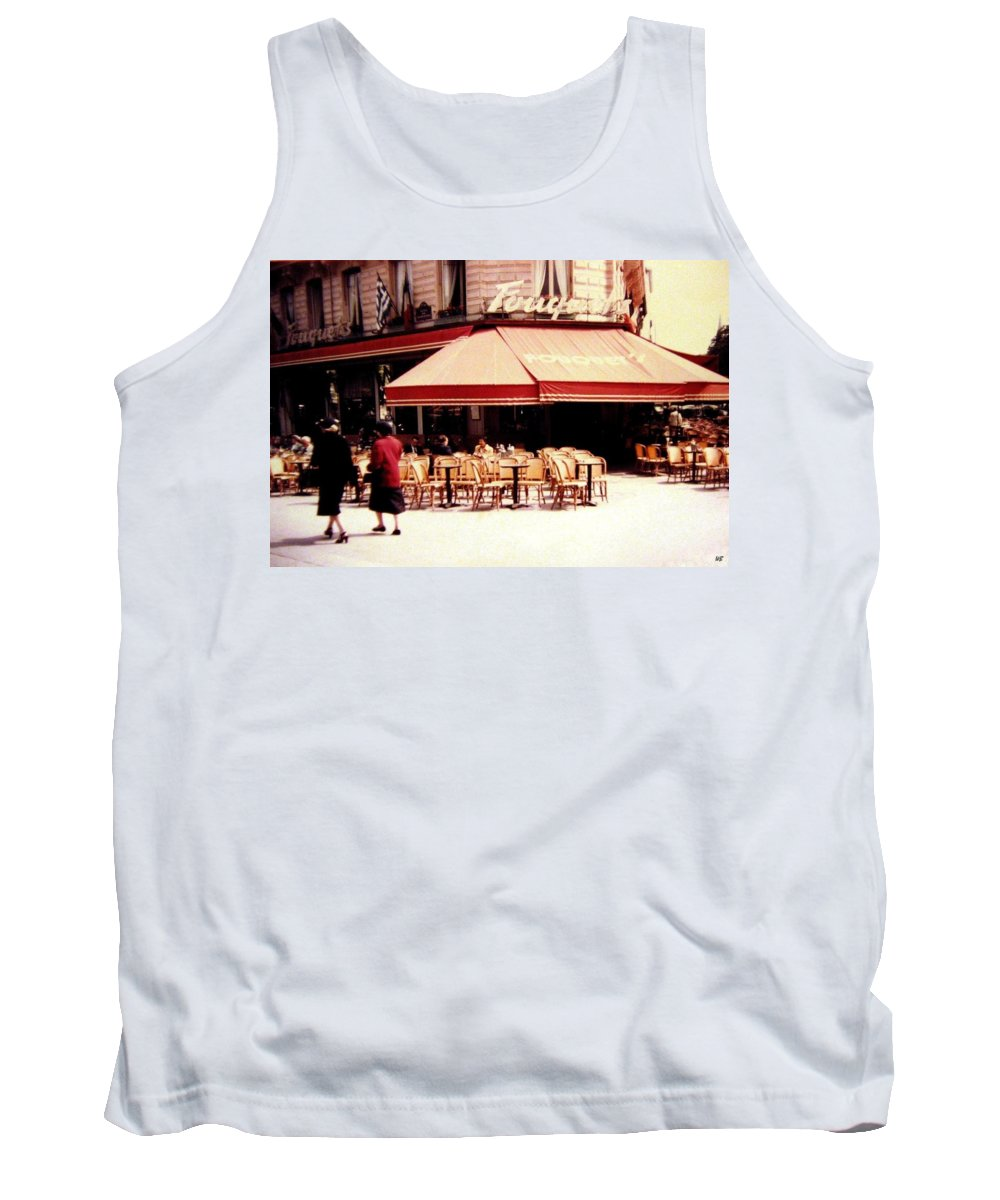 1955 Tank Top featuring the photograph Fouquets Of Paris 1955 by Will Borden