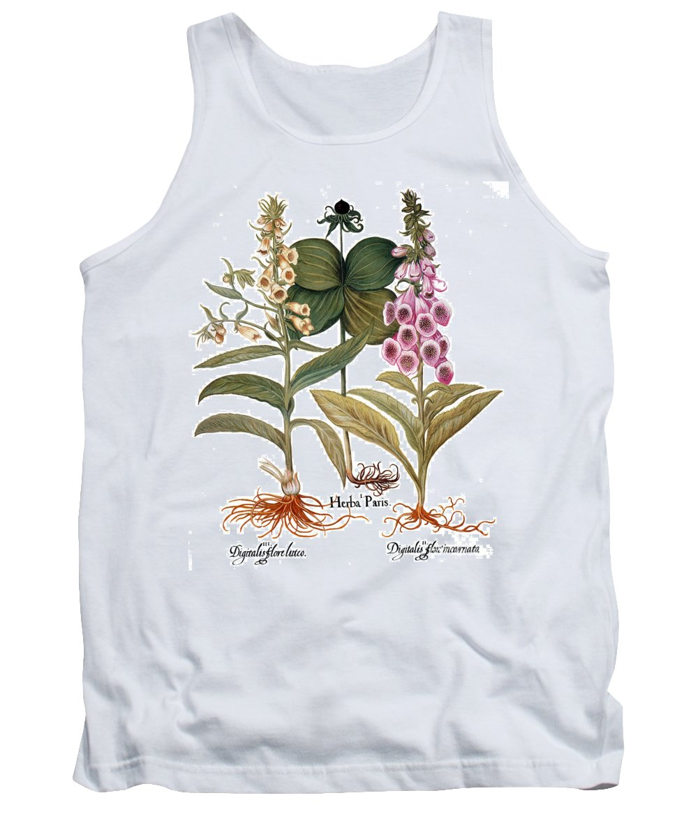 1613 Tank Top featuring the photograph Foxglove And Herb Paris by Granger