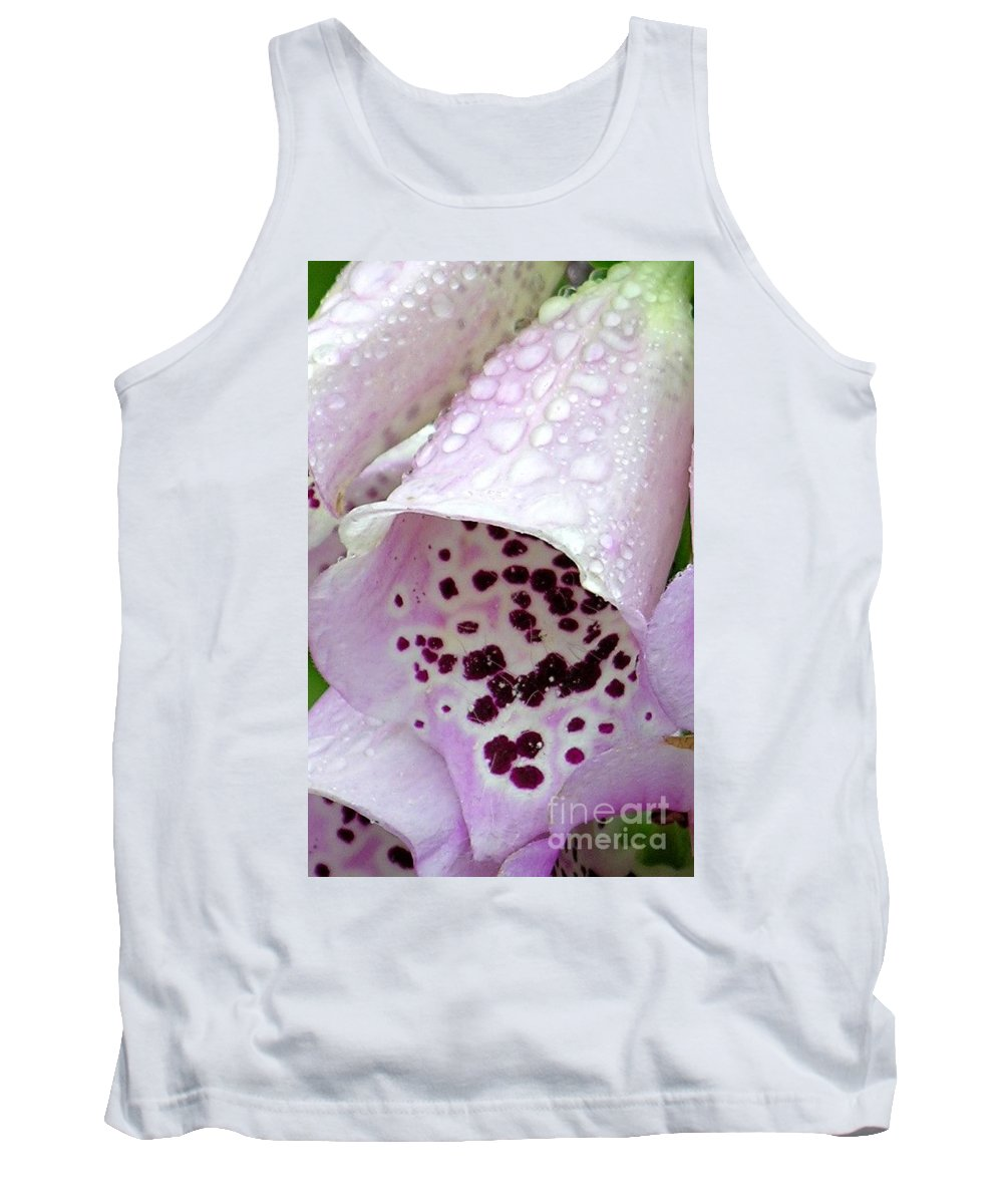 Foxglove Tank Top featuring the photograph Foxy Foxglove by Diane Greco-Lesser