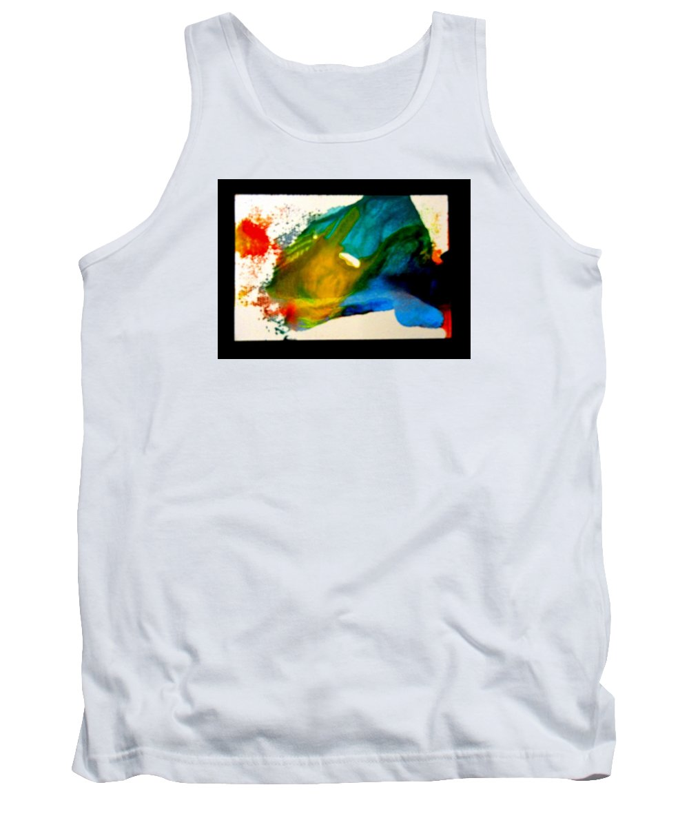 Abstract Tank Top featuring the painting Fragmented by Kruti Shah